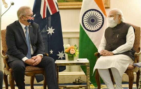 PM Modi meets Scott Morrison on the sidelines of the Quad Leaders' Summit